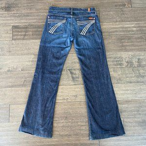 7 For All Mankind Dojo Wide Flare Stretch Jeans